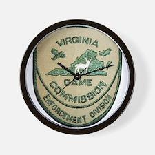 Virginia Game Warden Wall Clock