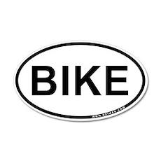 Bike 38.5 x 24.5 Oval Wall Peel