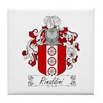 Rinaldini Family Crest Tile Coaster