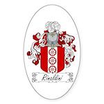 Rinaldini Family Crest Oval Sticker