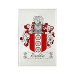 Rinaldini Family Crest Rectangle Magnet (100 pack)