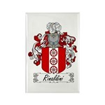 Rinaldini Family Crest Rectangle Magnet