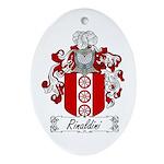 Rinaldini Family Crest Oval Ornament