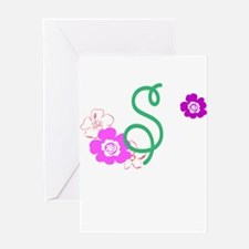 Letter S Greeting Card