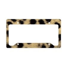 Cheetah Print License Plate Holder