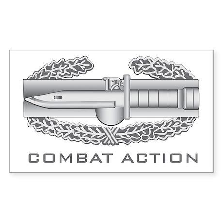 Combat Action Badge Sticker (Rectangle)