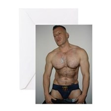 Funny Gay men Greeting Card