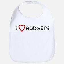 I Love Budgets Bib