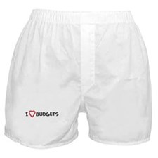 I Love Budgets Boxer Shorts