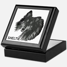 Adoring Sheltie Keepsake Box