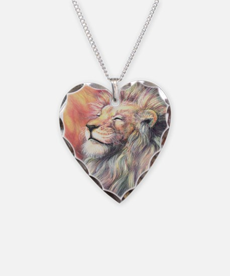 Sun King Necklace Heart Charm