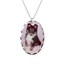 Sheltie Easter Puppy Necklace