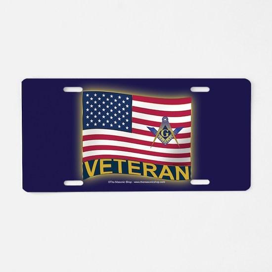 The Veteran Aluminum License Plate
