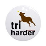 Tri Harder Boxer Ornament (Round)