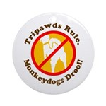 Monkeydogs Drool Ornament (Round)