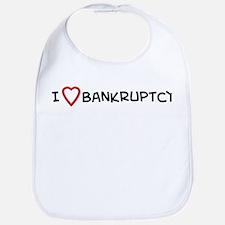 I Love Bankruptcy Bib