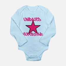 UNRATED SUPERSTAR Pink Long Sleeve Infant Bodysuit