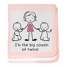 Big Cousin of Twins baby blanket