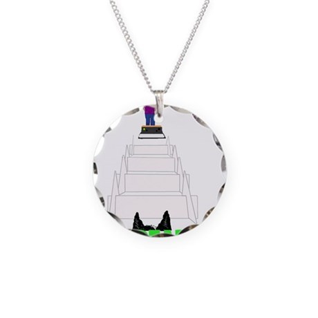 Dog's View Necklace Circle Charm