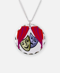 COMEDY & TRAGEDY MASKS Necklace