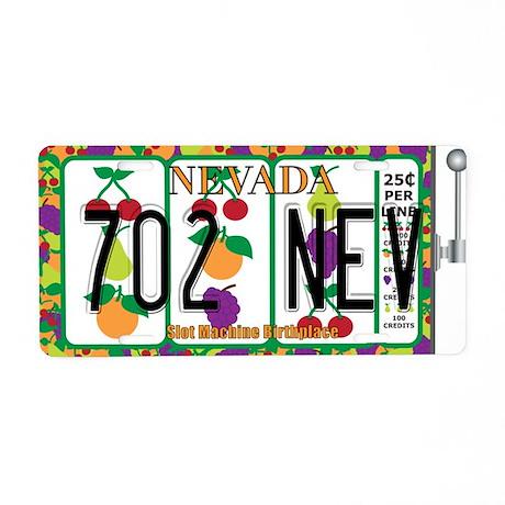 NV Slot Machine Aluminum License Plate