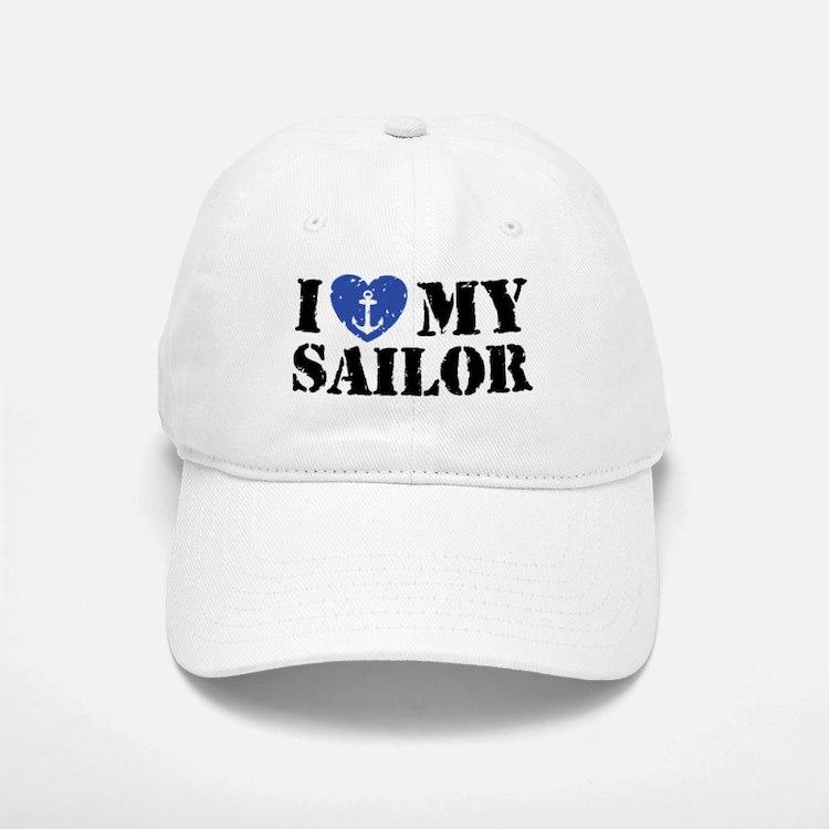 I Love My Sailor Baseball Baseball Cap