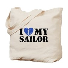 I Love My Sailor Tote Bag