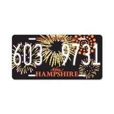 NH Fireworks Aluminum License Plate