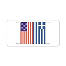 US and Greece Aluminum License Plate