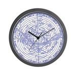 STAR MAPS:  Chart of the Heavens Wall Clock