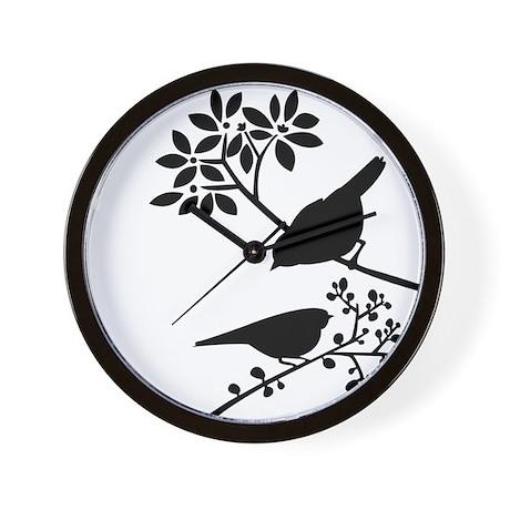 Elegant Birds Wall Clock