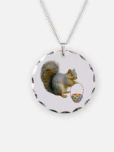 Squirrel Easter Basket Necklace