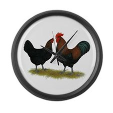Marans Black Copper Large Wall Clock