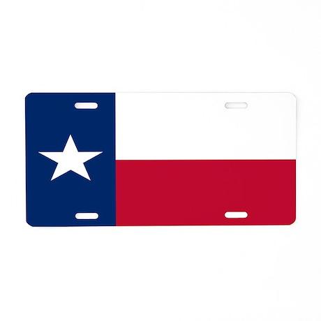"""Texas Flag"" Aluminum License Plate"