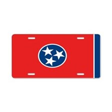 """Tennessee Flag"" Aluminum License Plate"