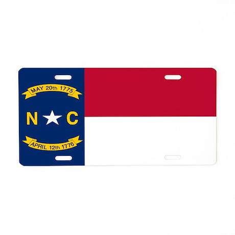 """""""North Carolina Flag"""" Aluminum License P"""