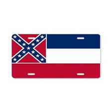 """Mississippi Flag"" Aluminum License Plat"