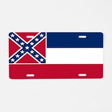 """Mississippi Flag"" Aluminum License Plat"