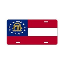 """Georgia Flag"" Aluminum License Plate"