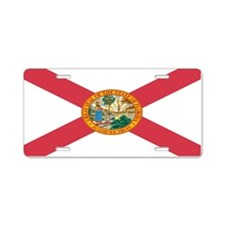 """Florida Flag"" Aluminum License Plate"