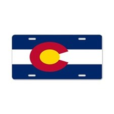 """Colorado Flag"" Aluminum License Plate"