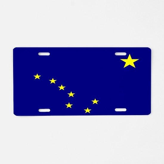 """Alaska Flag"" Aluminum License Plate"