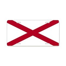 """Alabama Flag"" Aluminum License Plate"