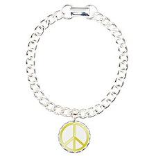 Gold Peace Symbol Bracelet