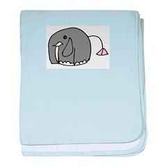 elephant - baby blanket