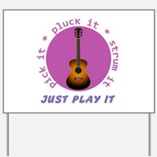 Just Play It - Guitar Yard Sign
