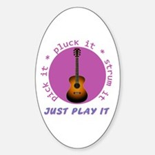 Just Play It - Guitar Decal