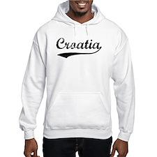 Vintage Croatia Hoodie Sweatshirt