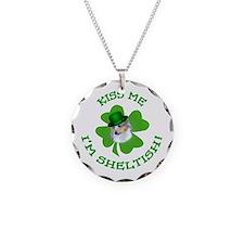Sheltish Puppy Necklace Circle Charm