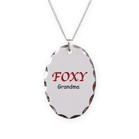 Foxy Grandma Necklace Oval Charm